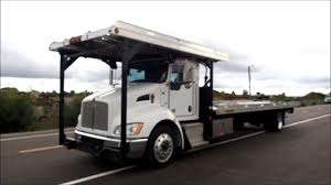 100 Kenworth Tow Truck KENWORTH T370 WITH JERR DAN 4 CAR CARRIER ROLLBACK TOW TRUCK FOR SALE