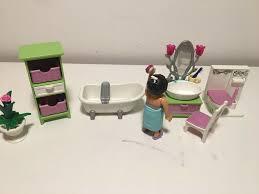 badezimmer rosa grün playmobil 5307 mit zubehör