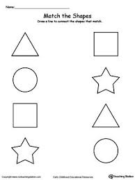 Match The Shapes Teach Your Child Basic And How To Group A Matching Shape With This Printable Activity Worksheet