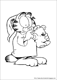 Coloring Pages For Kids Garfield