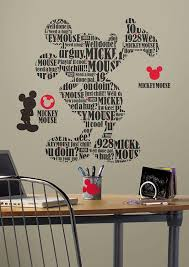 Mickey Mouse Bathroom Wall Decor by Roommates Rmk2073gm Mickey And Friends Typography Mickey Mouse