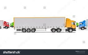 100 Directions For Trucks Semi Trailer Different Colors Different Stock Illustration