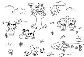 Spring Weather Coloring Pages
