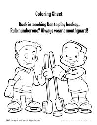 Preschool Dental Coloring Pages