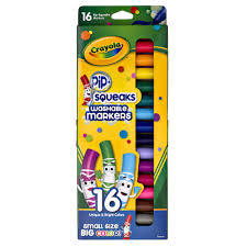 Crayola Bathtub Fingerpaint Soap Toxic by Crayola Pip Squeaks Washable Markers 16 Pack Officeworks