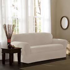 Slipcovers For Couches Walmart by Living Room Sure Fit Stretch Pinstripe Pc T Cushion Sofa