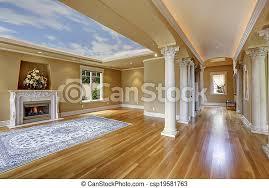 luxushaus wohnzimmer mit kolumne tolles haus wohnzimmer