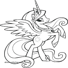 Pony Coloring Pages My Little Princess For Sheets