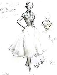 Drawn Gown Vintage Dress 13