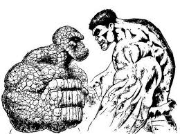 Hulk The Thing Coloring Pages
