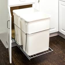 35 Inch Cabinet Pulls Chrome by 35 Quart Trash Can Trash Cans Rev A Shelf Double 35 Qt Pull Out