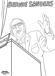 Bring Bernies Message To Life Through The Coloring Page Below Categories Political