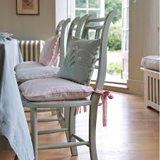 Image Of Pastel Dining Room Chair Cushions Colors