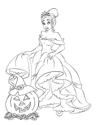 Free Disney Halloween Coloring Pages Throughout Princess Online