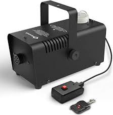 fansteck fog machine portable wireless remote smoke machine with high output of 2000cfm and fuse protection for disco dj