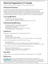 Resume Examples Electrician Apprentice Sample Download Objective