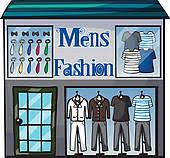 Vector Illustration Of Shop Mens Fasion