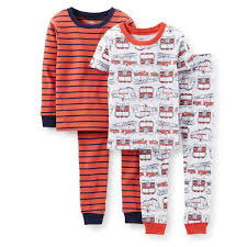 100 Fire Truck Pajamas Amazoncom Carters 4Piece Snug Fit Cotton PJs Truck 6M Baby
