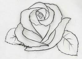 Pencil Drawing Rose Flowers Easy Rose Flower Drawings In Pencil