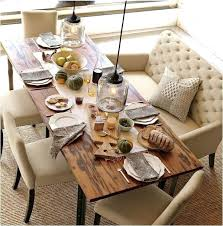 Rustic Dining Table Set Room Up Country Style Upholstered Chairs Of