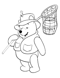 Winnie Pooh Free Coloring Pages For Kids With Hunny