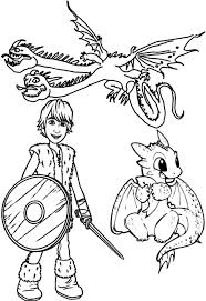 Hiccup And Baby Dragon In How To Train Your Coloring Pages