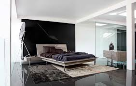 Minimalist Design of Bedroom with Masculine King Size Bed Frame