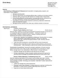 Sales Director Resume Example Chemical Industry