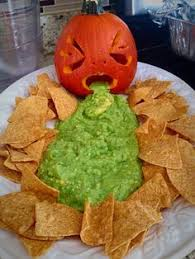 Pumpkin Guacamole Throw Up Cheese by Throwing Up Pumpkin With Guacamole And Cheese Dip Halloween