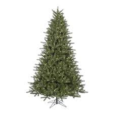 Vickerman Pre Lit Flocked Christmas Tree by Shop Vickerman 7 5 Ft Pre Lit Kennedy Fir Artificial Christmas