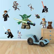 Star Wars Room Decor by Lego Star Wars Wall Decals Ebay