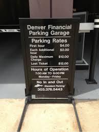 Denver Financial Parking Garage Parking in Denver