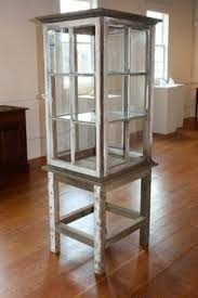 Old Windows Repurposed Into A Rustic Shabby Chic Display Cabinet Upcycle Curio