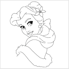 Disney Princess Christmas Coloring Pages Printables Free