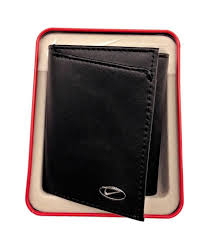 nike golf mens full grain leather trifold wallet w exterior