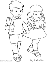 Great Boy And Girl Coloring Page 12 With Additional To Print