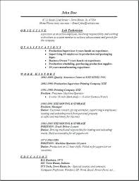 Chemistry Lab Technician Sample Assistant Resume Objective