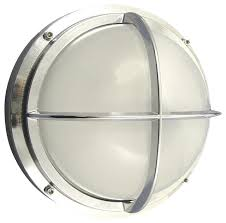 chrome bulkhead light with cross bar by shiplights traditional