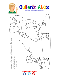 Bible Key Point Coloring Page David And Goliath