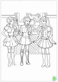 Barbie Princess Charm School Coloring Page