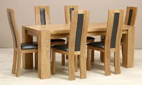 Upholstered Dining Chairs Set Of 6 by Dining Chairs Chic Modern Wood Dining Room Chairs Table And