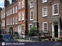 100 Houses In Hampstead Red Brick Georgian Houses In London Stock Photo