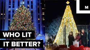 Christmas Tree Rockefeller Center Lighting by The Ultimate Christmas Tree Lighting Showdown Nyc Vs D C Youtube