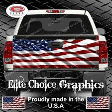 100 Truck Tailgate Decals American Flag Wrap Vinyl Graphic Decal Sticker Etsy