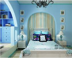beibehang fashion mediterranean light blue color plain nonwoven