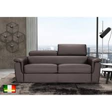Armani Top Grain Leather Sofa Bed
