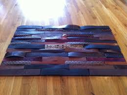 DIY Belt Floor Mat