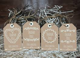 Rustic Favor Tags Printable Thank You Party Favors Blue