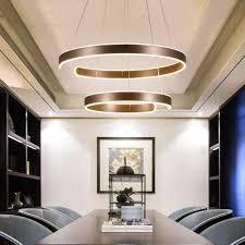 125w led esszimmerle dimmbar pendelleuchte mit fernbedienung modern 2 ring höhenverstellbar pendelle hängeleuchte für wohnzimmer schlafzimmer