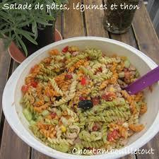 salade de pâtes légumes et thon choutambouilletout